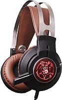 Наушники-гарнитура A4Tech Bloody G430 (черный/коричневый) -