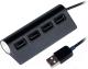 USB-хаб Ritmix CR-2400 (черный) -