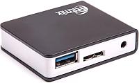 USB-хаб Ritmix CR-3400 (черный) -
