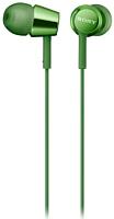 Наушники-гарнитура Sony MDR-EX155APG (зеленый) -