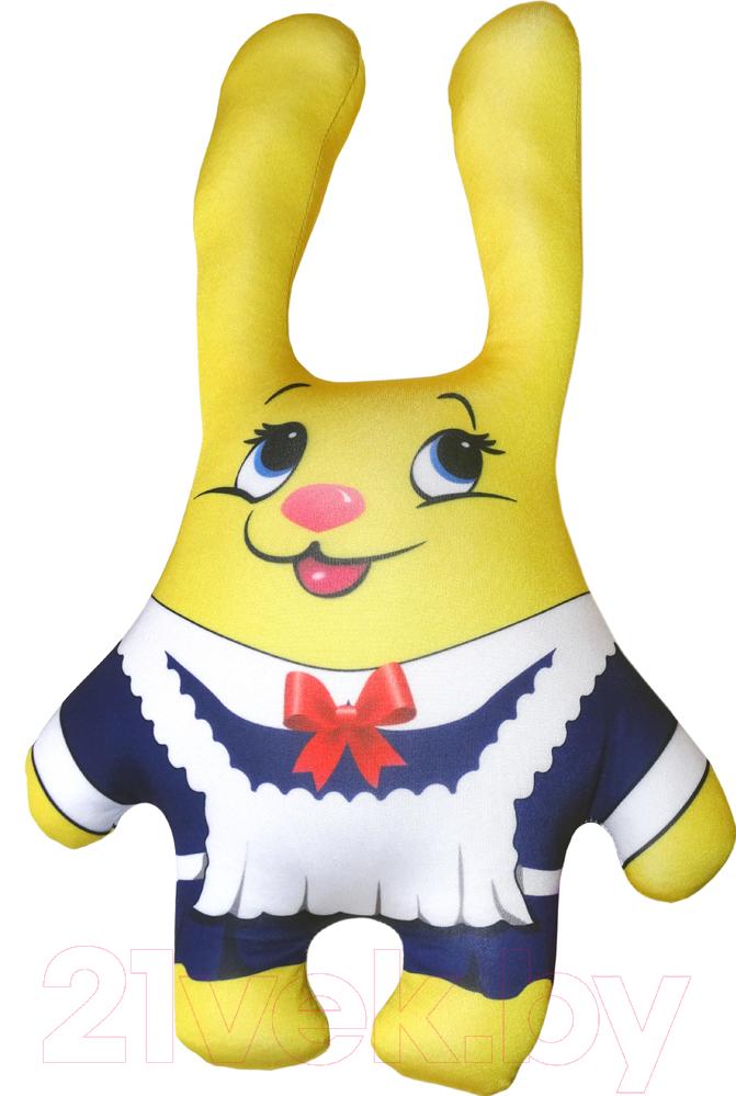 Купить Мягкая игрушка Мнушки, Зайка выпускной / T3923C1711A024YL, Россия, желтый, трикотаж