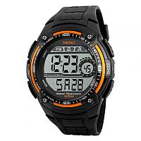 Часы наручные мужские Skmei 1203-1 (черный/оранжевый) -