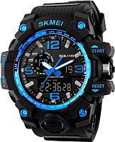 Часы наручные мужские Skmei 1155-1 (черный/синий) -