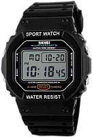 Часы наручные унисекс Skmei 1134-1 (черный/белый) -