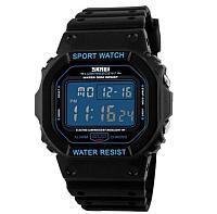 Часы наручные унисекс Skmei 1134-2 (черный/синий) -