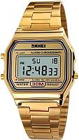Часы наручные унисекс Skmei 1123-1 (золото) -