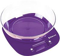 Кухонные весы Sakura SA-6078P (фиолетовый) -