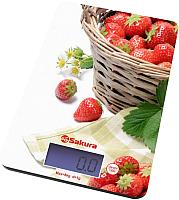 Кухонные весы Sakura SA-6075K (клубника) -