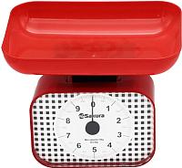 Кухонные весы Sakura SA-6016R (красный) -