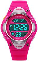 Часы наручные для девочек Skmei 1077-3 (ярко-розовый) -