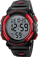 Часы наручные мужские Skmei 1258-2 (черный/красный) -