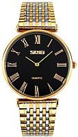 Часы наручные мужские Skmei 9105-3 (золото/черный) -