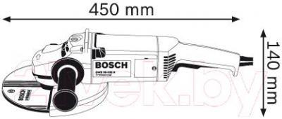 Профессиональная угловая шлифмашина Bosch GWS 20-230 H Professional (0.601.850.107) - схема