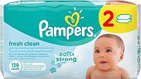 Влажные салфетки Pampers Baby Fresh Clean Duo (2х64шт) -