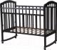 Детская кроватка Антел Алита-2 (Венге) -