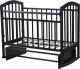 Детская кроватка Антел Алита-3 (венге) -