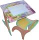 Комплект мебели с детским столом Интехпроект Буквы-Цифры 14-387 (салатовый и розовый) -