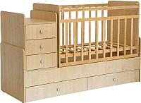 Детская кровать-трансформер Фея 1100 (клен) -