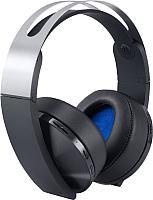 Наушники-гарнитура Sony Wireless Headset for PS4 / PS719812753 (черный/платина) -