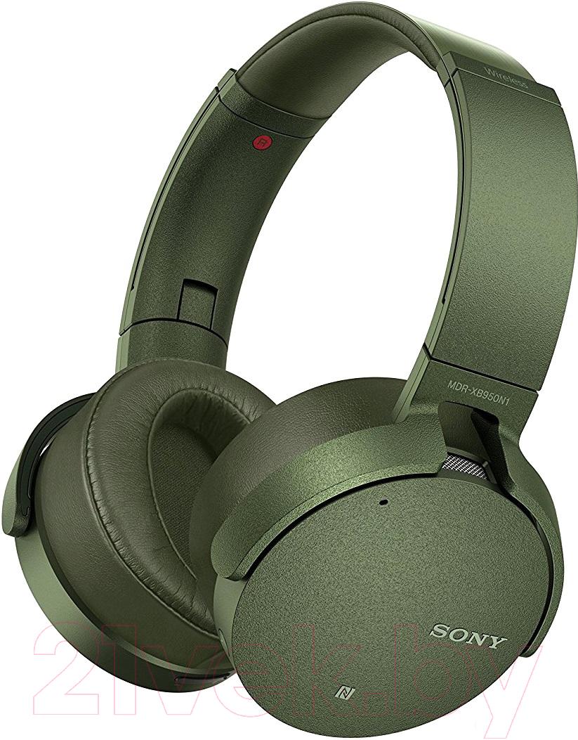 Купить Наушники-гарнитура Sony, MDR-XB950N1G (зеленый), Китай