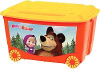 Ящик для хранения Бытпласт Маша и медведь 4313794 (красный) -