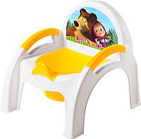 Детский горшок Бытпласт Маша и медведь 431379906 (желтый) -