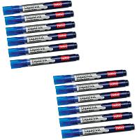 Набор маркеров для доски NOBO Liquid Ink 1901075 (12шт, синий) -