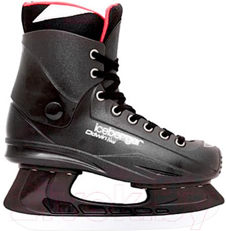 Купить Коньки хоккейные Black Aqua, Odwin New / FTS-303 (р-р 43), Китай, черный, пластик