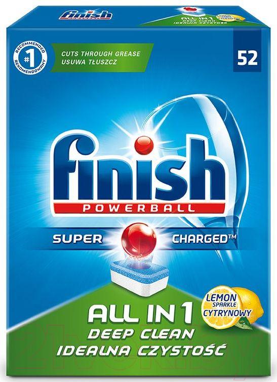 Купить Таблетки для посудомоечных машин Finish, All in One Лимон (52шт), Польша