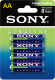 Комплект батареек Sony AM3L-B4D (4шт) -