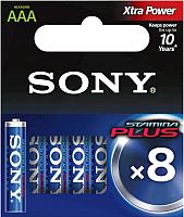 Комплект батареек Sony AM4-B8D (8шт) -
