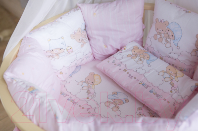 Комплект постельный в кроватку Баю-Бай Мечта К91-М1 (розовый)