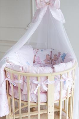 Комплект в кроватку Баю-Бай Забава К91-З1 (розовый)