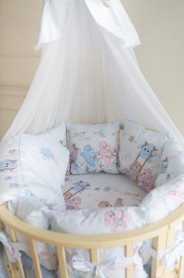 Комплект в кроватку Баю-Бай Забава К91-З4 (голубой)