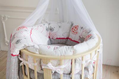Комплект в кроватку Баю-Бай Дружба К91-Д1 (красный)