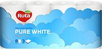 Туалетная бумага Ruta Pure White (8рул) -