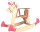 Качалка детская Woody Лошадка-3 / 01515 (розовый) -