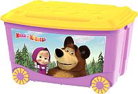 Ящик для хранения Бытпласт Маша и медведь 4313794 (сиреневый) -
