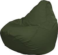 Бескаркасное кресло Flagman Груша Медиум Г1.2-04 (темно-oливковый) -