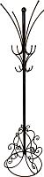 Вешалка для одежды Dudo ВНН-010 (черный) -