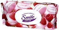 Влажные салфетки Smile Decor Cakes&Seashells с антибактериальным эффектом (60шт, с клапаном) -