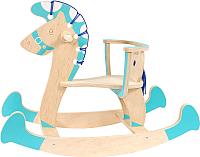 Качалка детская Woody Лошадка-3 / 01515 (голубой) -