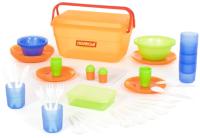 Набор пластиковой посуды Полесье №3 / 52124 (55пр) -