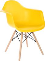 Кресло Mio Tesoro Дори SC-002 (желтый/дерево) -