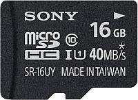 Карта памяти Sony microSDHC (Class 10) 16GB + адаптер (SR16NYAT) -