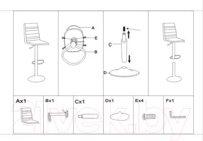 Стул барный Mio Tesoro Нарни BS-016 (мятный зеленый/хром) - Инструкция по сборке