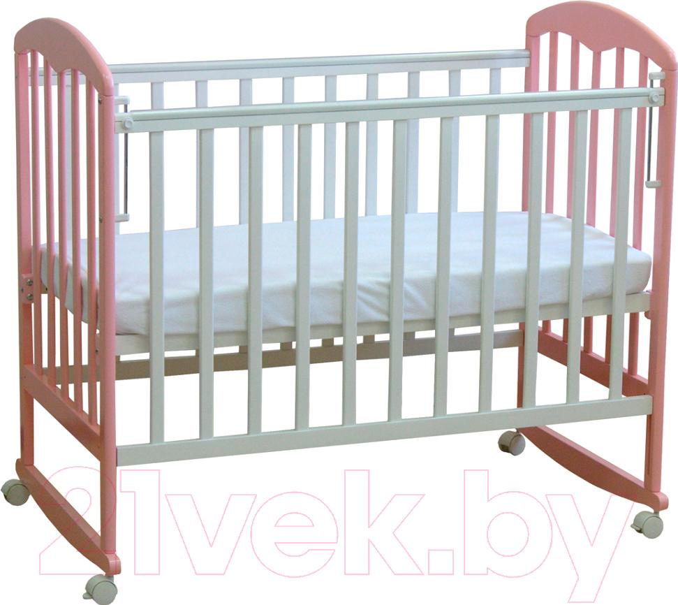 Купить Детская кроватка Фея, 323 (белый/магнолия), Россия, массив дерева