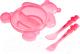 Набор детской посуды Canpol Мишка 2/422 (розовый) -