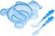Набор детской посуды Canpol Мишка 2/422 (синий) -