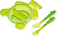 Набор детской посуды Canpol Мишка 2/422 (зеленый) -